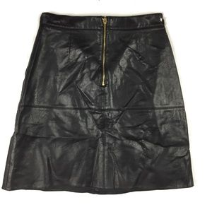 Zara Skirts - Zara A Line Faux Leather Skirt.